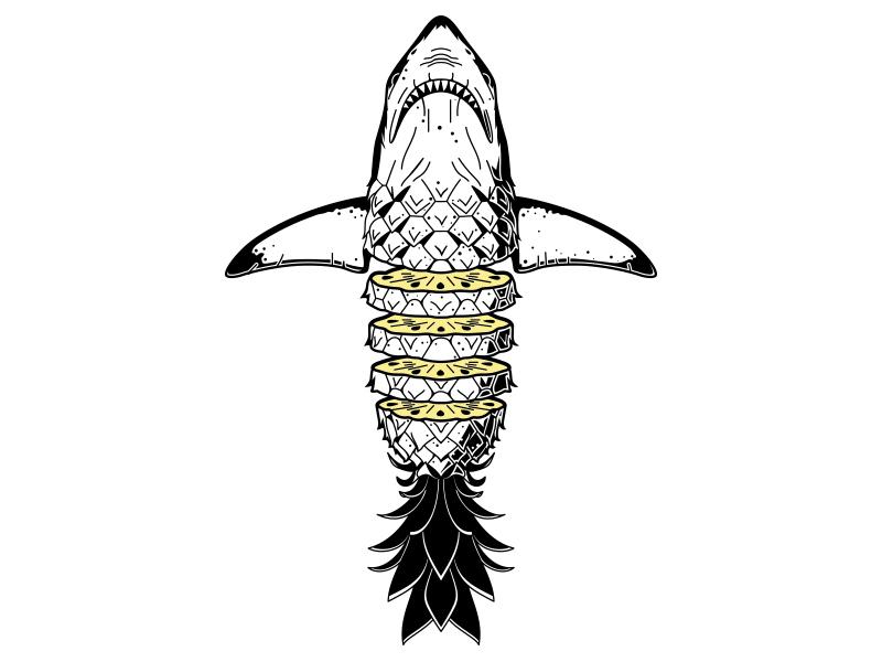 """dddribbble: """"Sharkapple """""""
