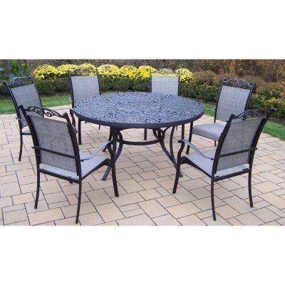 mississippi 7 piece sling dining set finish black by oakland living