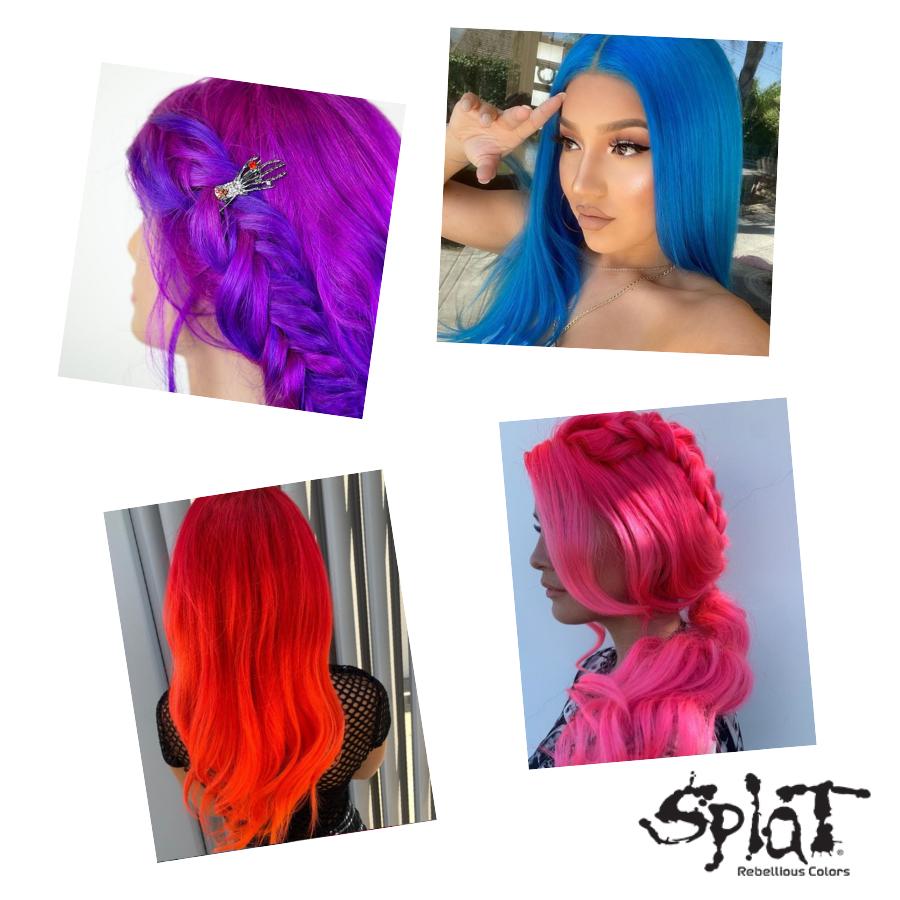 Pin By Rey On Splat Hair Dye Dyed Hair Blue Semi Permanent Hair Dye Splat Hair Dye