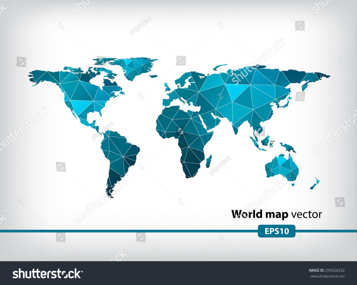 Blue geometric world map vector background eps 10 format design blue geometric world map vector background eps 10 format gumiabroncs Images