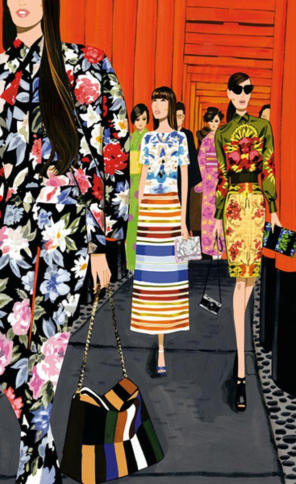 Jordi Labanda Fashion Illustration for Vogue Nippon