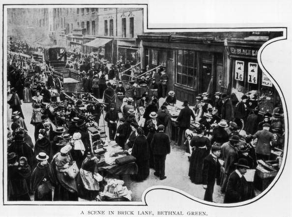 Shoppers At The Clothes Market In Brick Lane Bethnal Green East London Bethnal Green Historical London London Market