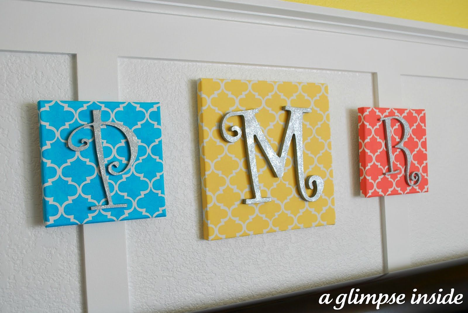 Stenciled Initial Canvases | Crafts | Pinterest | Initial canvas ...