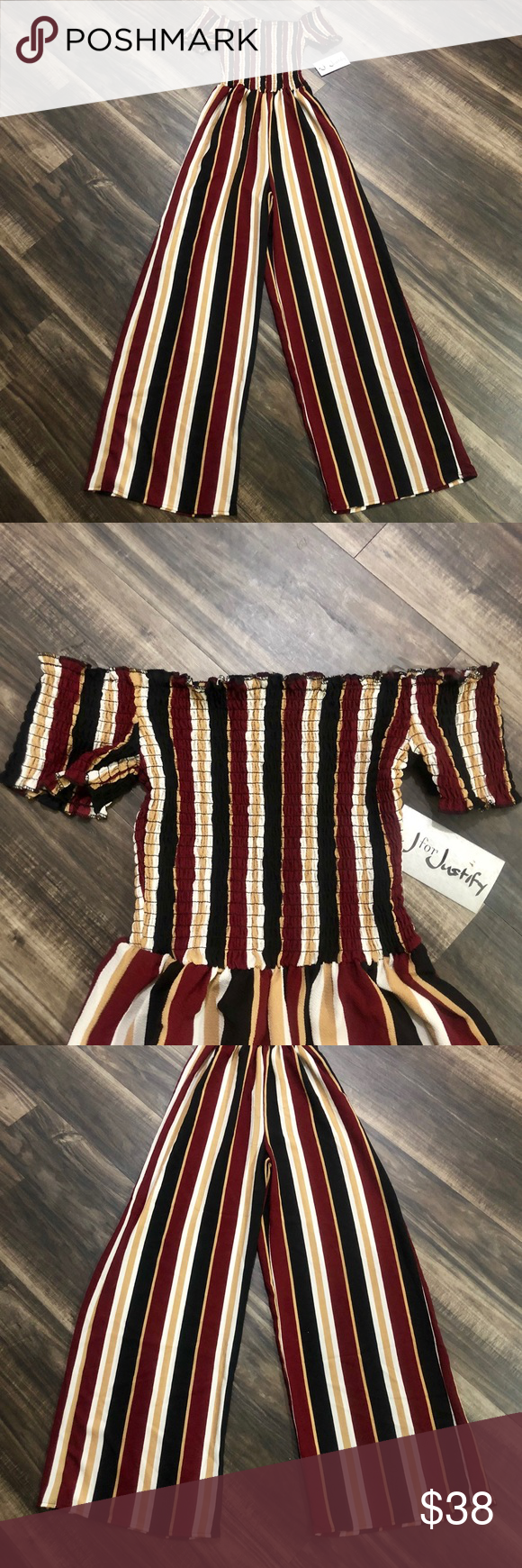 45621c5f24e BNWT J for Justify Off Shoulder Strapless Jumpsuit Brand New Authentic J  for Justify Clothing Fitted