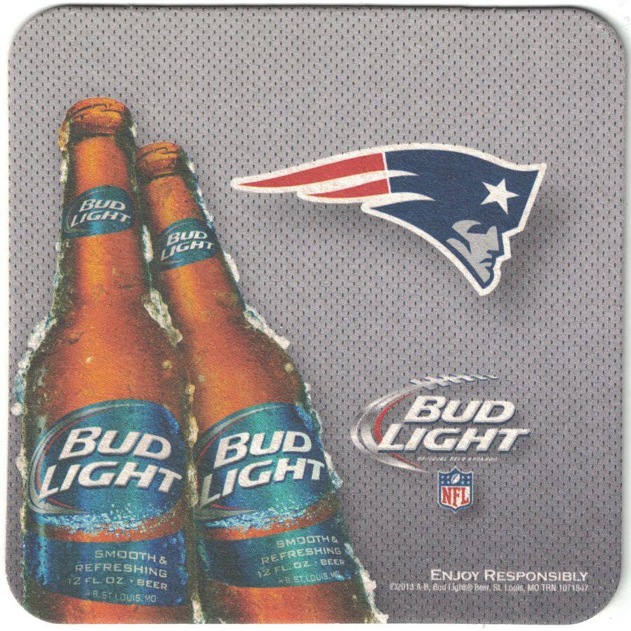 Bud Light New England Patriots Coaster Bud light, New