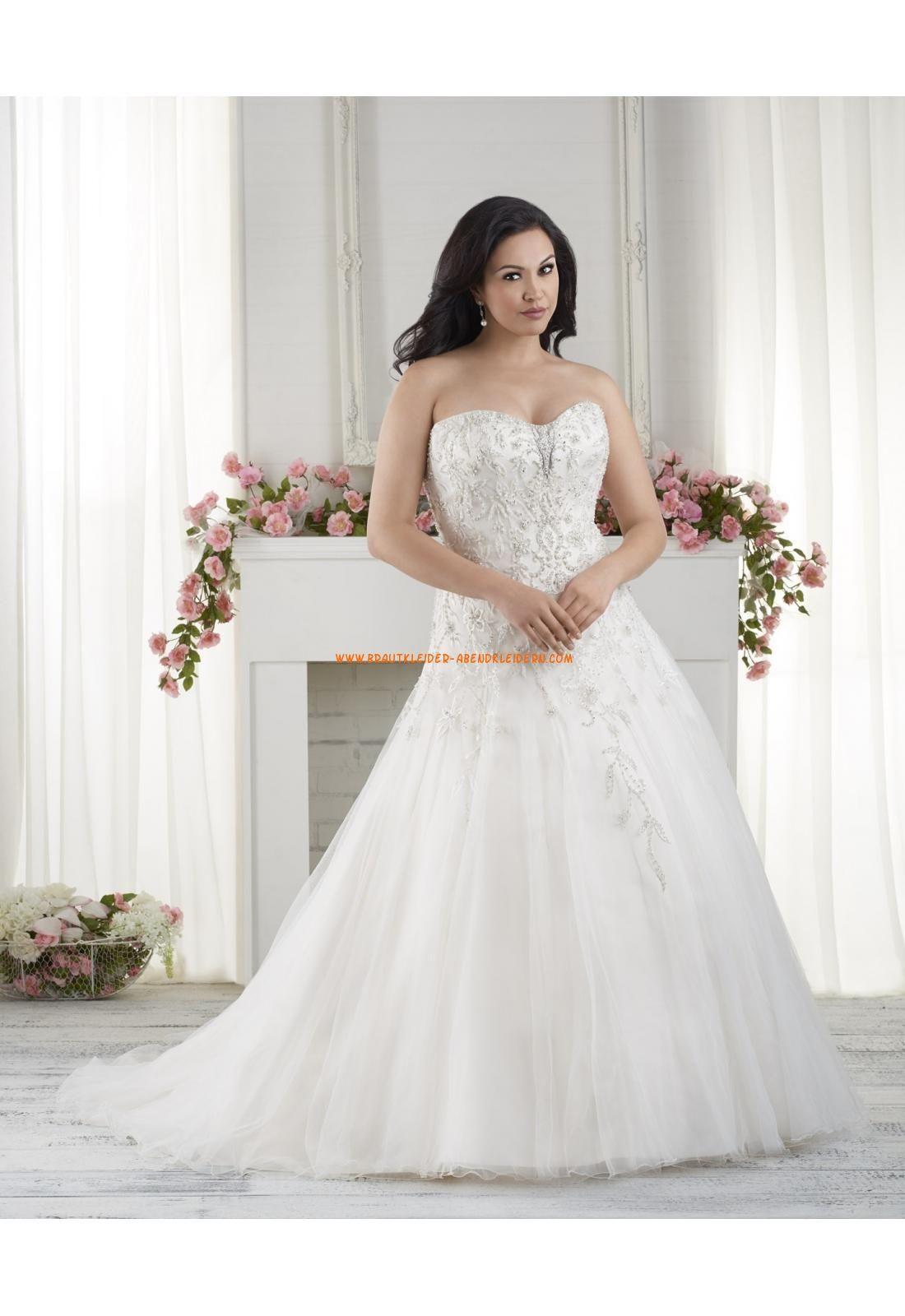 A-linie Schöne Trendige Brautkleider aus Tüll mit Kristall ...
