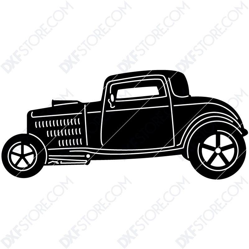 Free DXF File Hot Rod Classic Car
