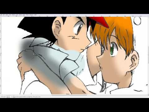 ▶ Ash and Misty Valentine Speed paint - YouTube