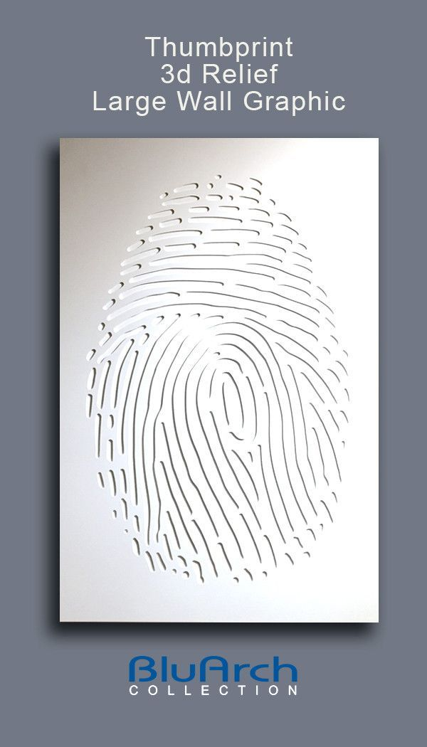 relief wall graphic  thumbprint