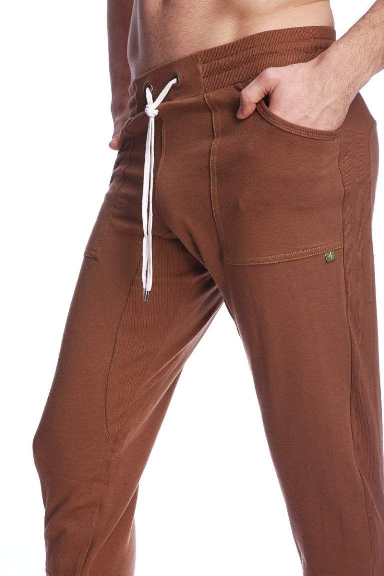 32b62614f6 Buy online the long cuffed jogger yoga pants for men (Chocolate Brown) at  Yoga-Eco-Clothing.com - The Web's popular e-shop of the organic men's  clothes for ...