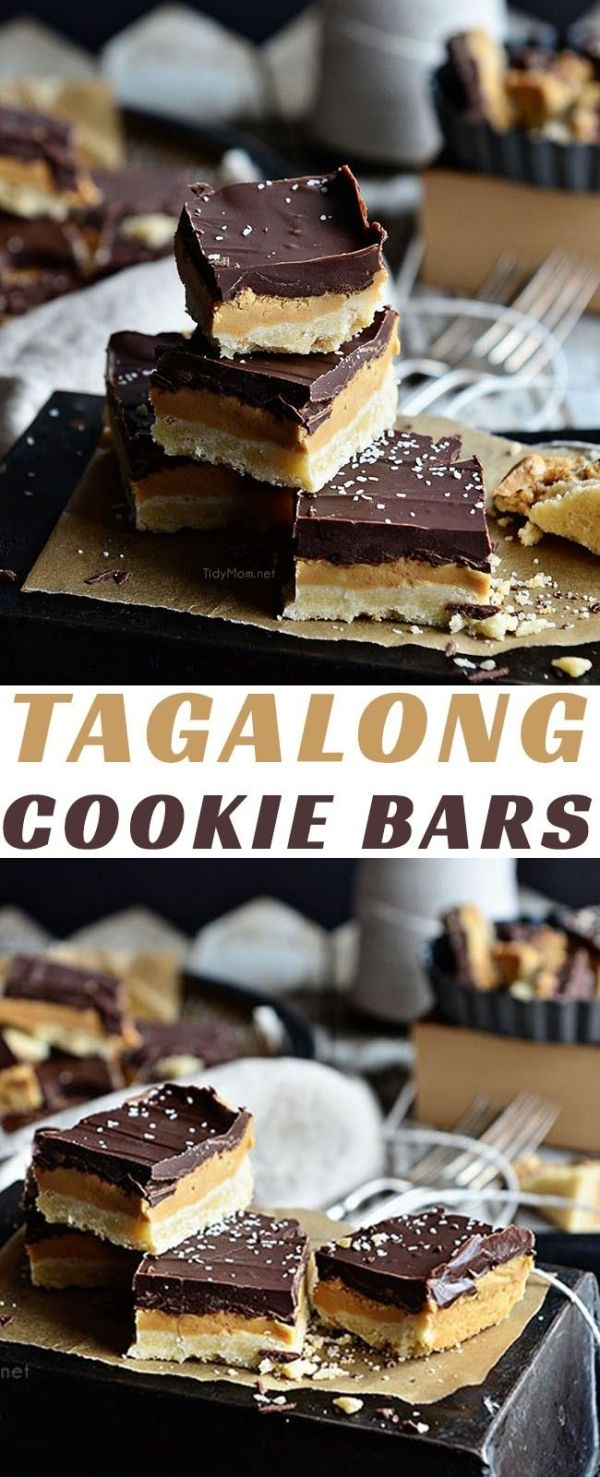 Copycat Tagalongs Cookie Bar recipe -   14 desserts Bars restaurant ideas