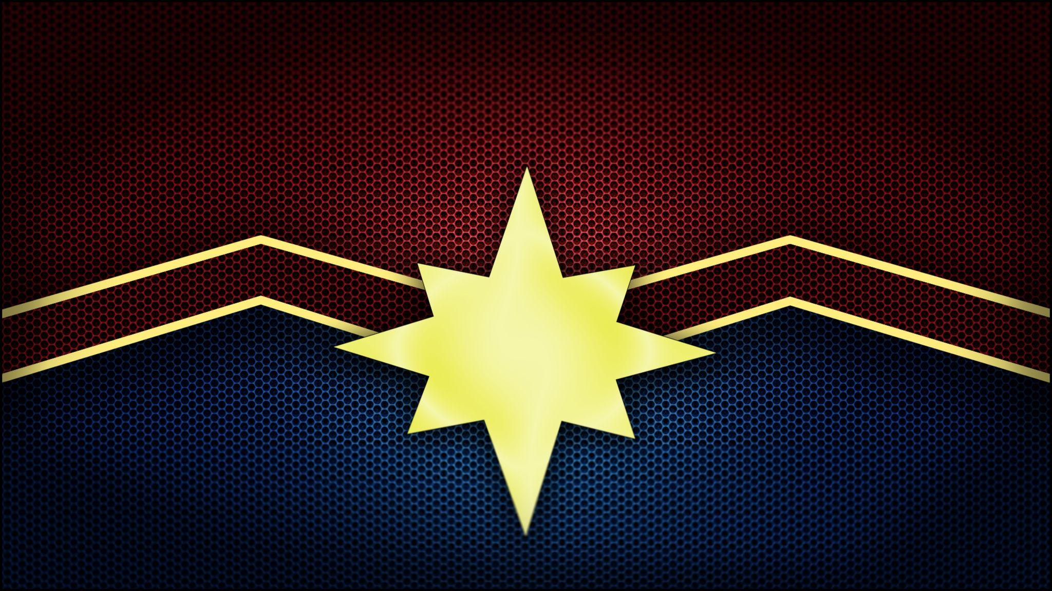 Captain Marvel Logo Captain Marvel Marvel Logo Marvel Comics Wallpaper