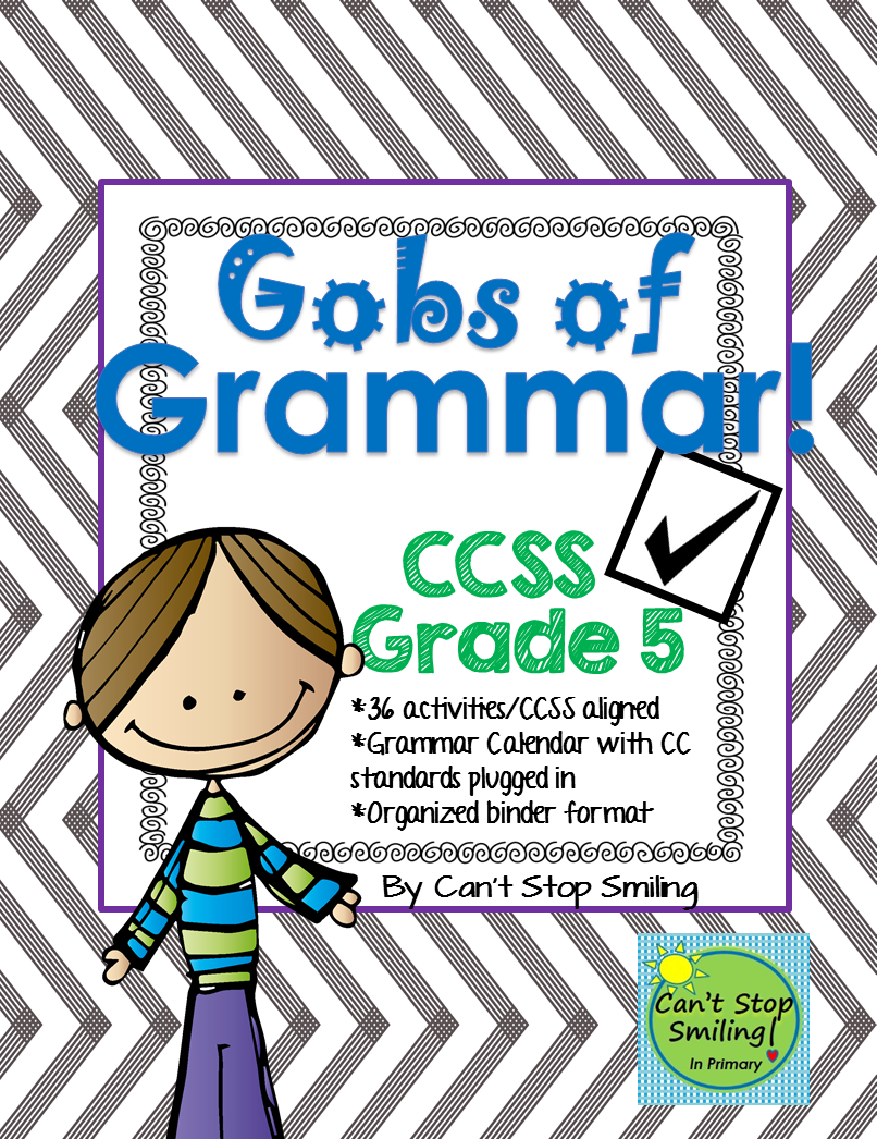 Grade 5 Common Core Aligned Grammar Packet Including Calendar To Follow And Activities Aligned To Each Standard Grammar Teaching Fun Teaching 5th Grade [ 1046 x 806 Pixel ]