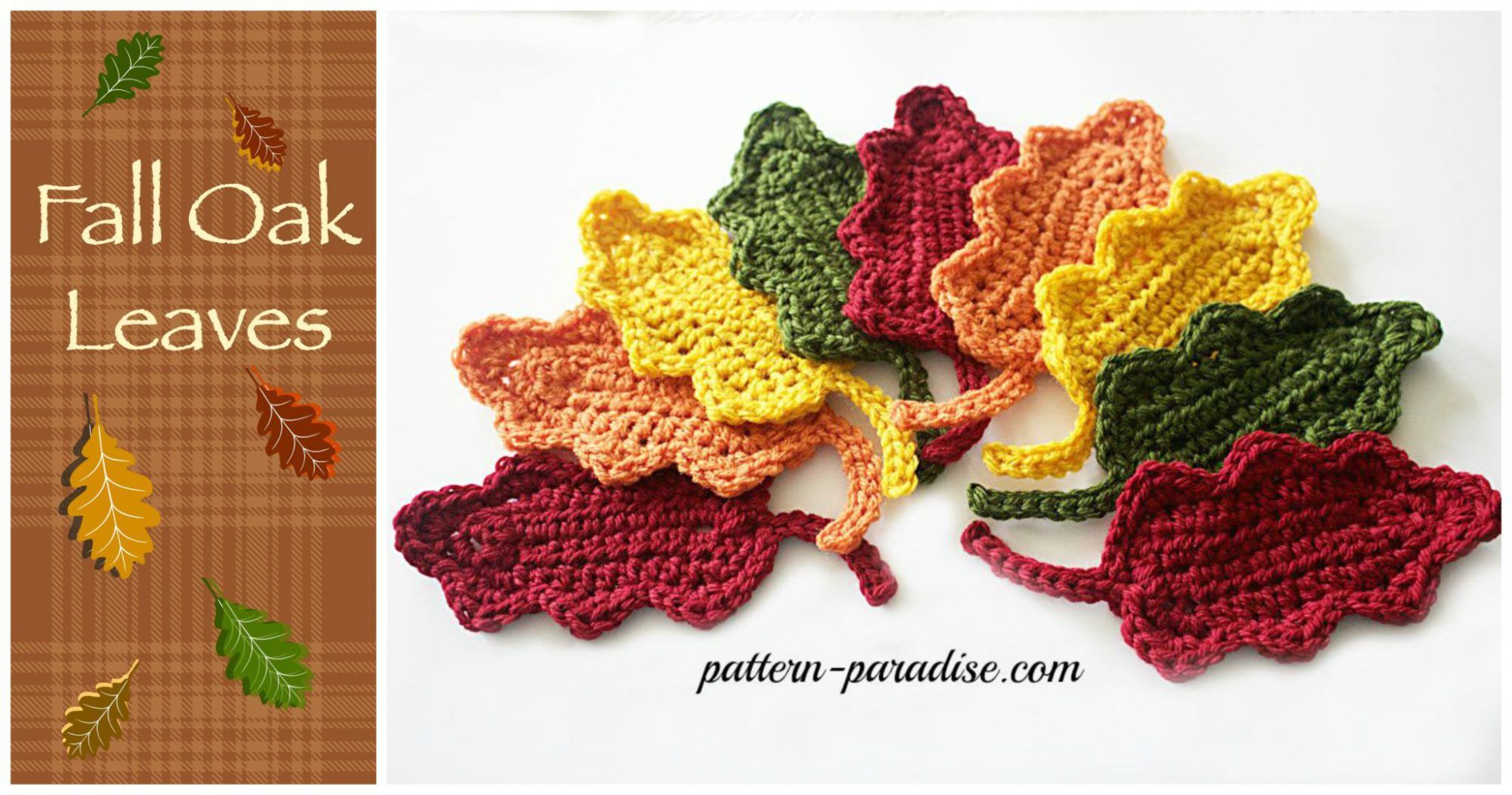 Fall oak leaves by pattern paradise crochetother holidays free crochet pattern fall oak leaves smaller ones bankloansurffo Images