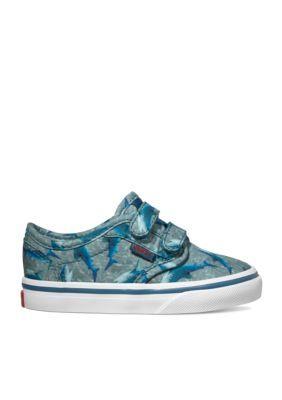 22df78fbb3 Vans Boys  Atwood Sneaker - Boy Infant Toddler Sizes - Sharks Blue - 6M  Toddler