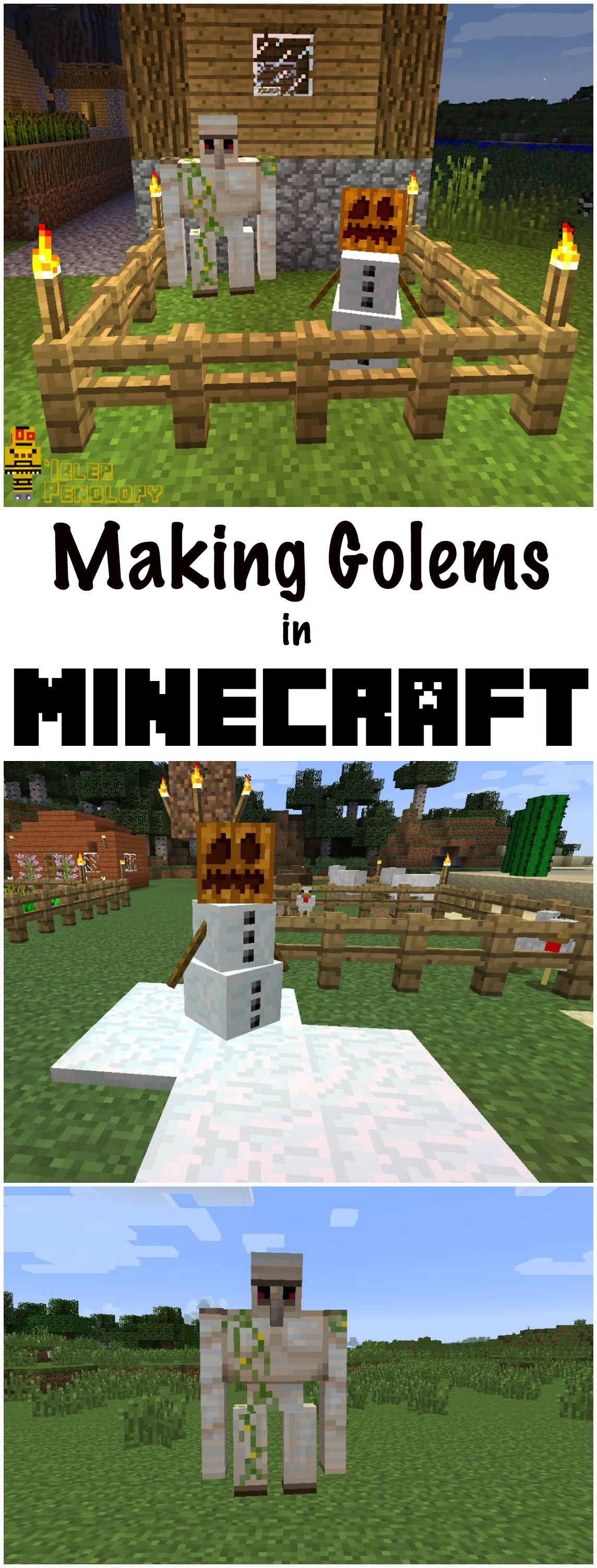 Minecraft Golems can help you attack and defend against enemies. There are two types: Snow Golems and Iron Golems.