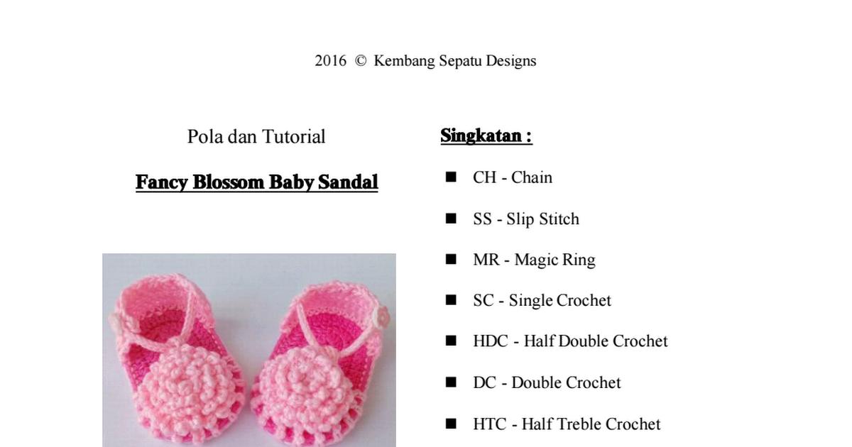 Fancy Blossom Baby Sandal - Versi Bahasa Indonesia.pdf | Baby ...
