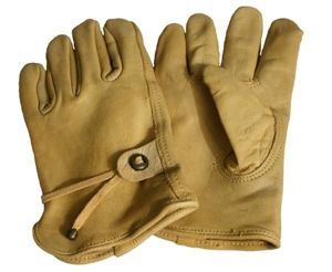 Durable leather gloves M