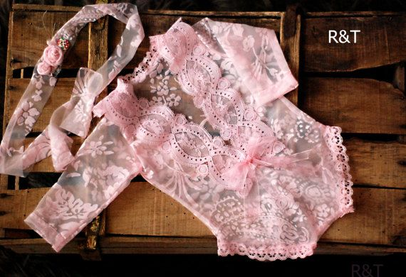 photography prop lace newborn girl lace romper newborn lace RTS new romper Newborn girl romper with tieback.baby romper