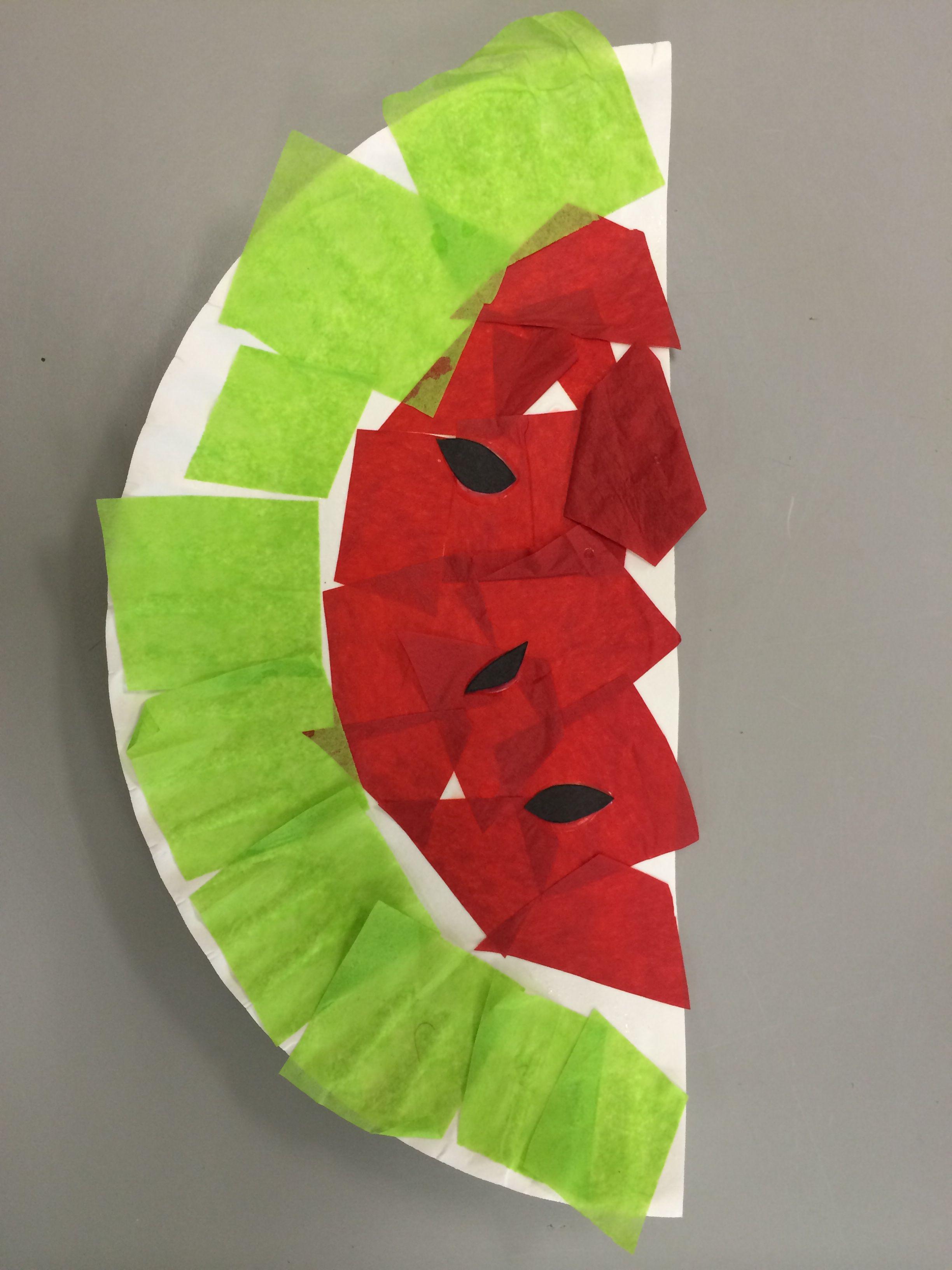 Watermelon Preschool Art Project August