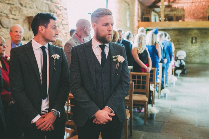 Groom in mohair suit is a classic match for vintage chic | fabmood.com #wedding #vintagechic #dodfordmanor #weddingceremony #groom