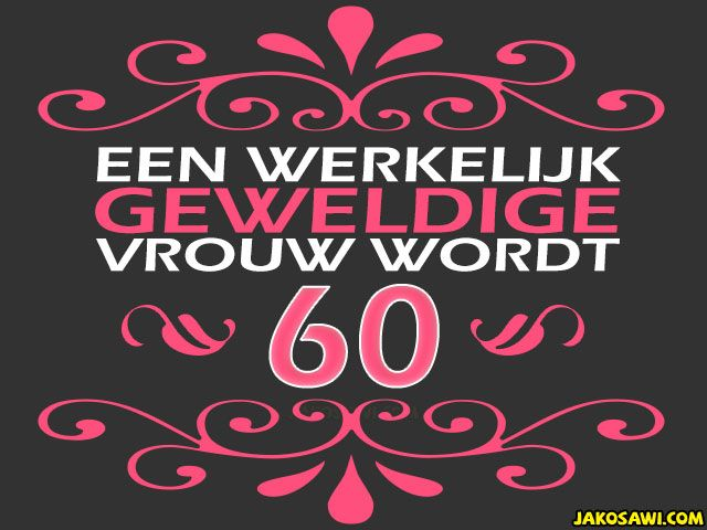 Verjaardag Vrouw 60 Jaar