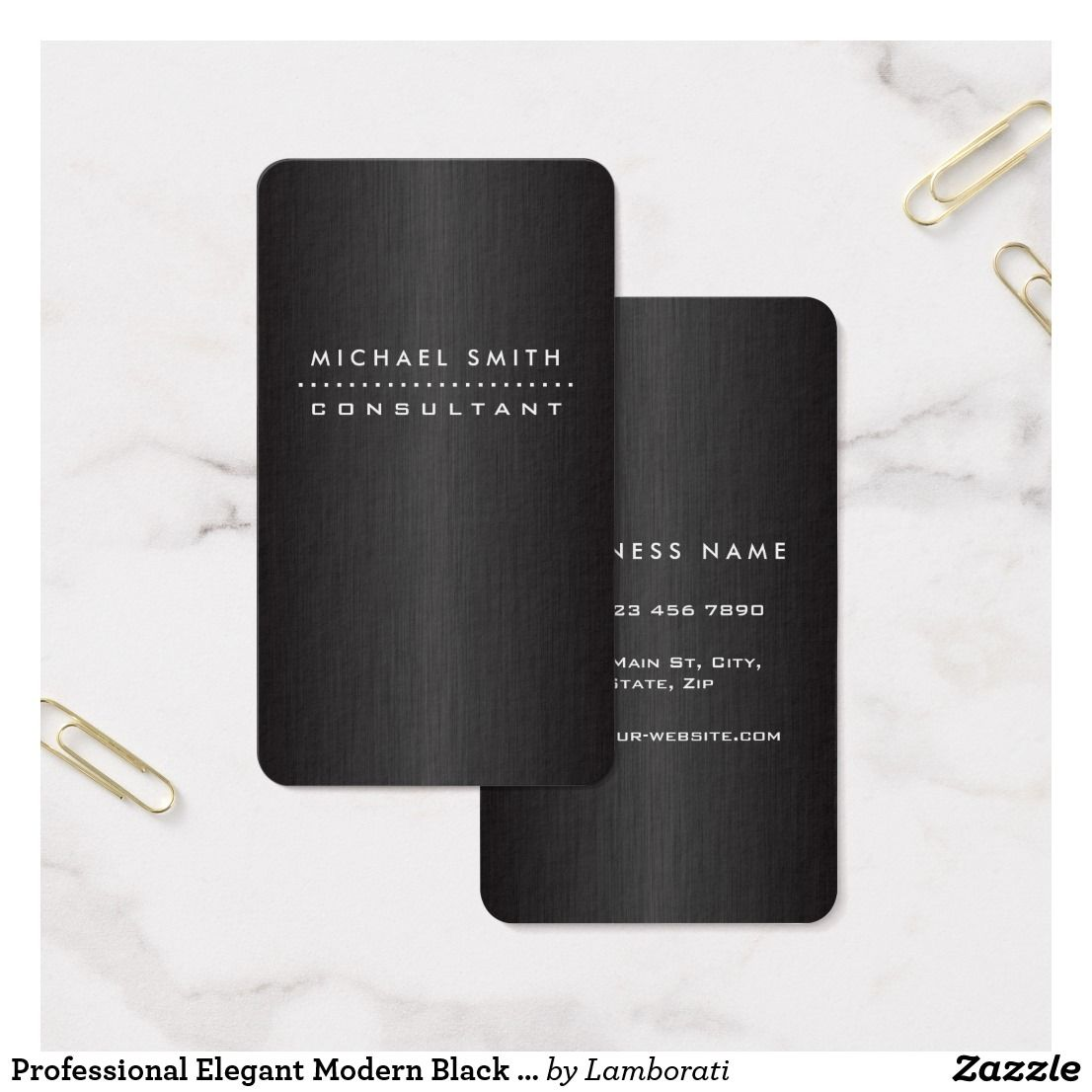 Professional elegant modern black brushed metal business card professional elegant modern black brushed metal business card colourmoves