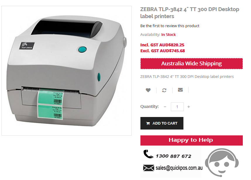 Best Deals on Zebra R4D-0U0A000N-00 Portable Barcode Printer at Quick POS online store. Our service limits to only Australia..!  http://www.quickpos.com.au/pos-hardware/label-printers/portable-barcode-printers/zebra-road-warrior-4-printer-cable-ready-203-dpi-cpcl-zpl-epl-ml