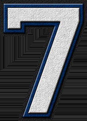 Presentation Alphabets White Royal Blue Varsity Numeral 7 Alphabet Sports Quilts Alphabet Clipart