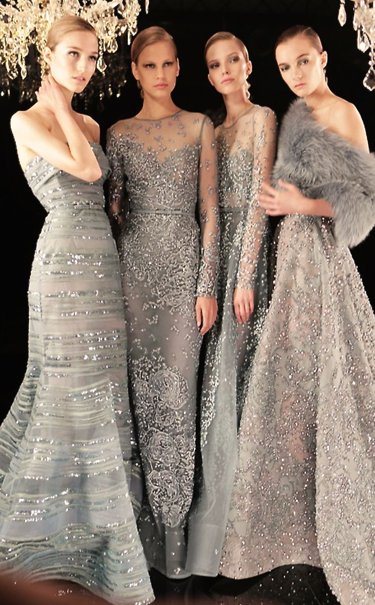 Elie Saab. Shimmer still reigns supreme. These would be gorgeous