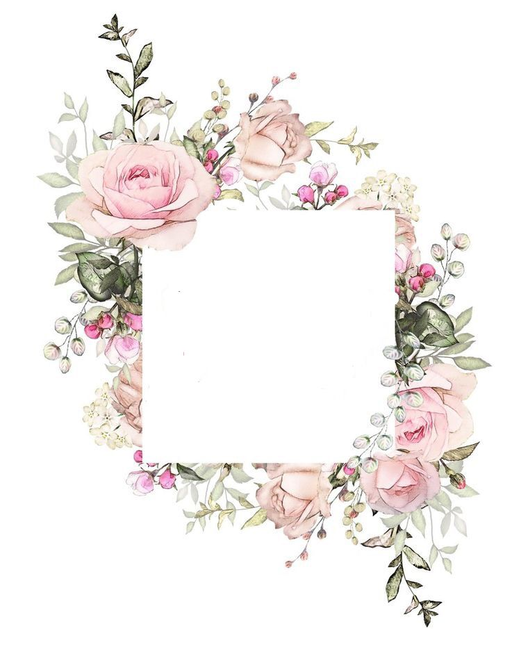 Wedding And Certificate Floral Border Border Clipart: Pocket Page Insert Made From 2 12x12 Pieces Of