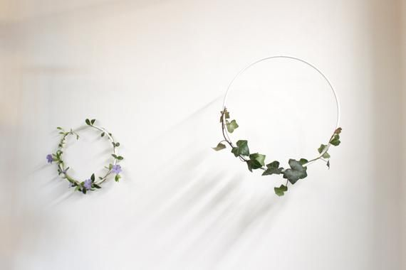Photo of Metal Wall Decor set of two, Floral Hoop Wreath, diy Decor, Floral Decor, Floral Wedding Decor, Flor