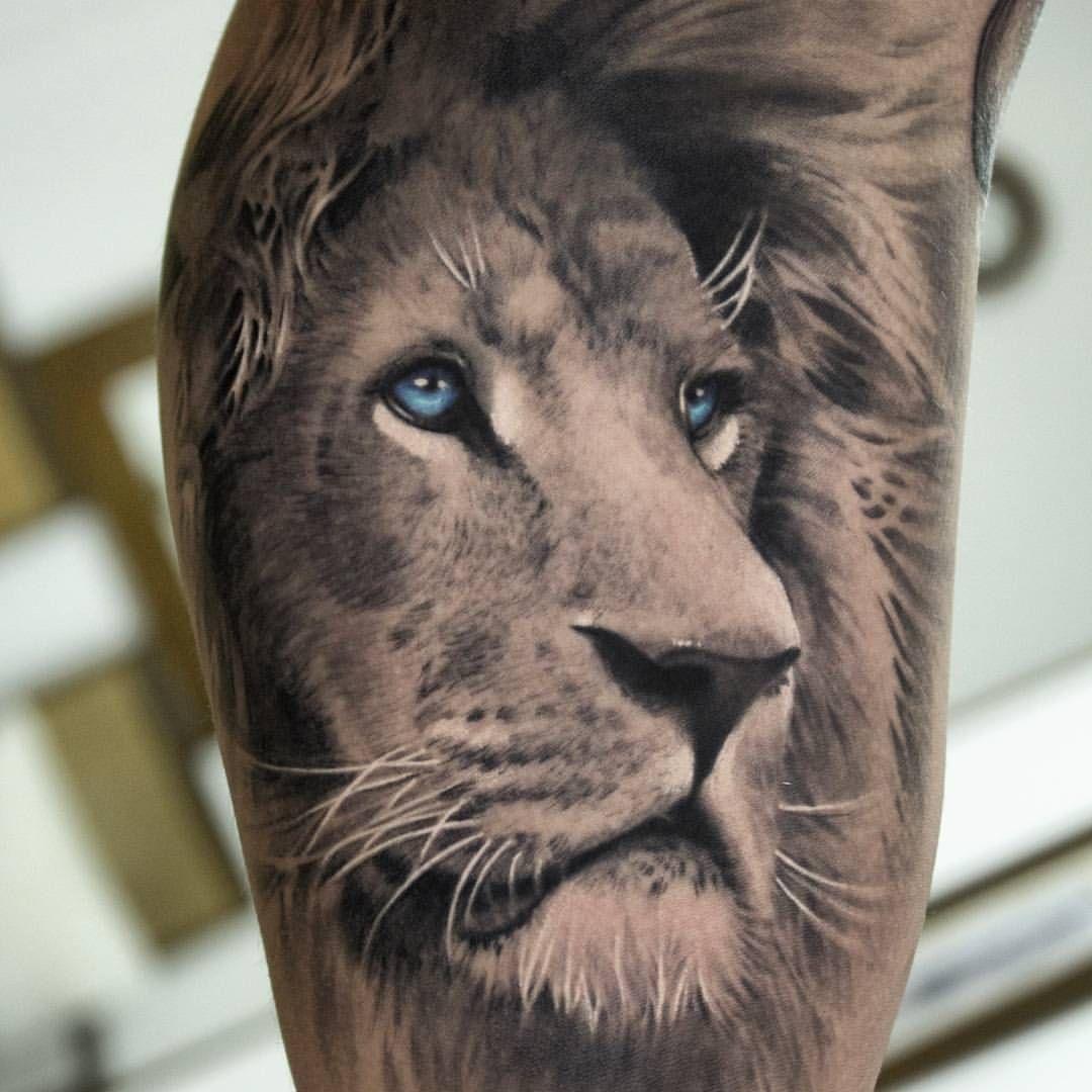 tattoo lion realism Löwenkopftattoos, Natur tattoo arm