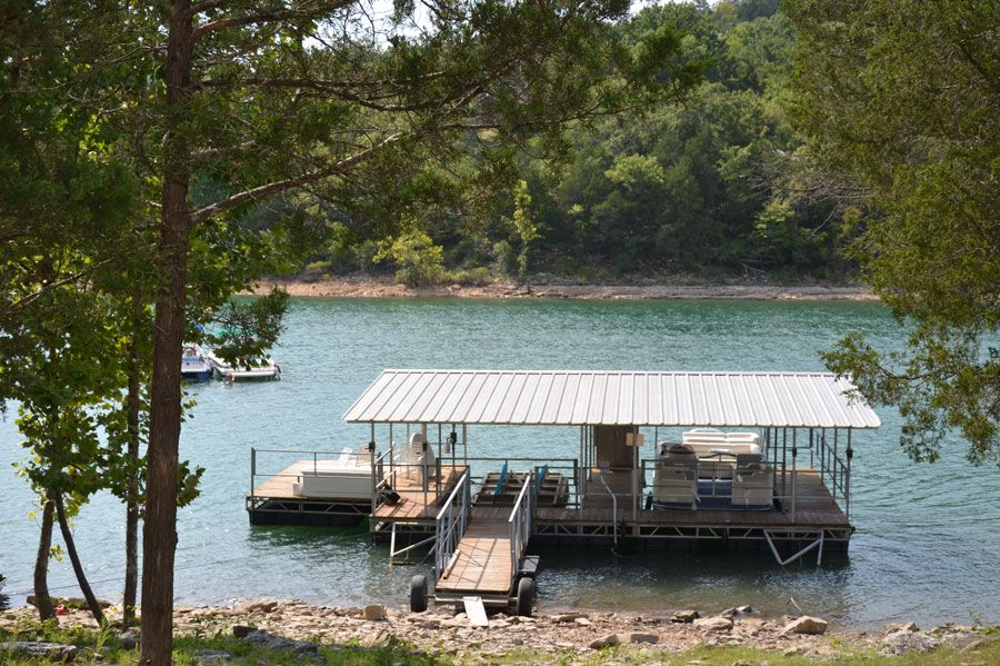 Boat Dock Right Behind The Cabin Boat Slip Available For