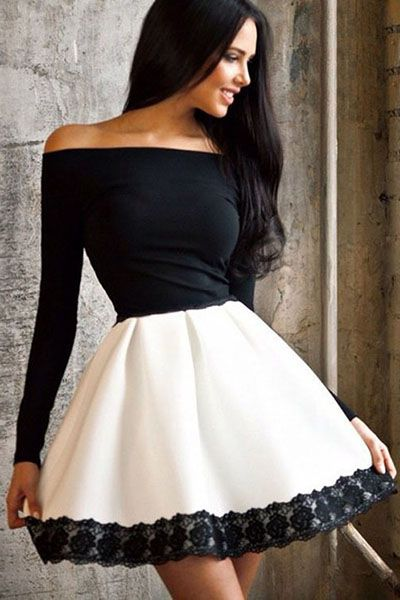 Classy off shoulder dress with lace detail in 2021 white