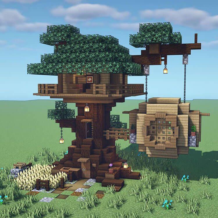 21 Minecraft Tree House Build Ideas and Tutorials