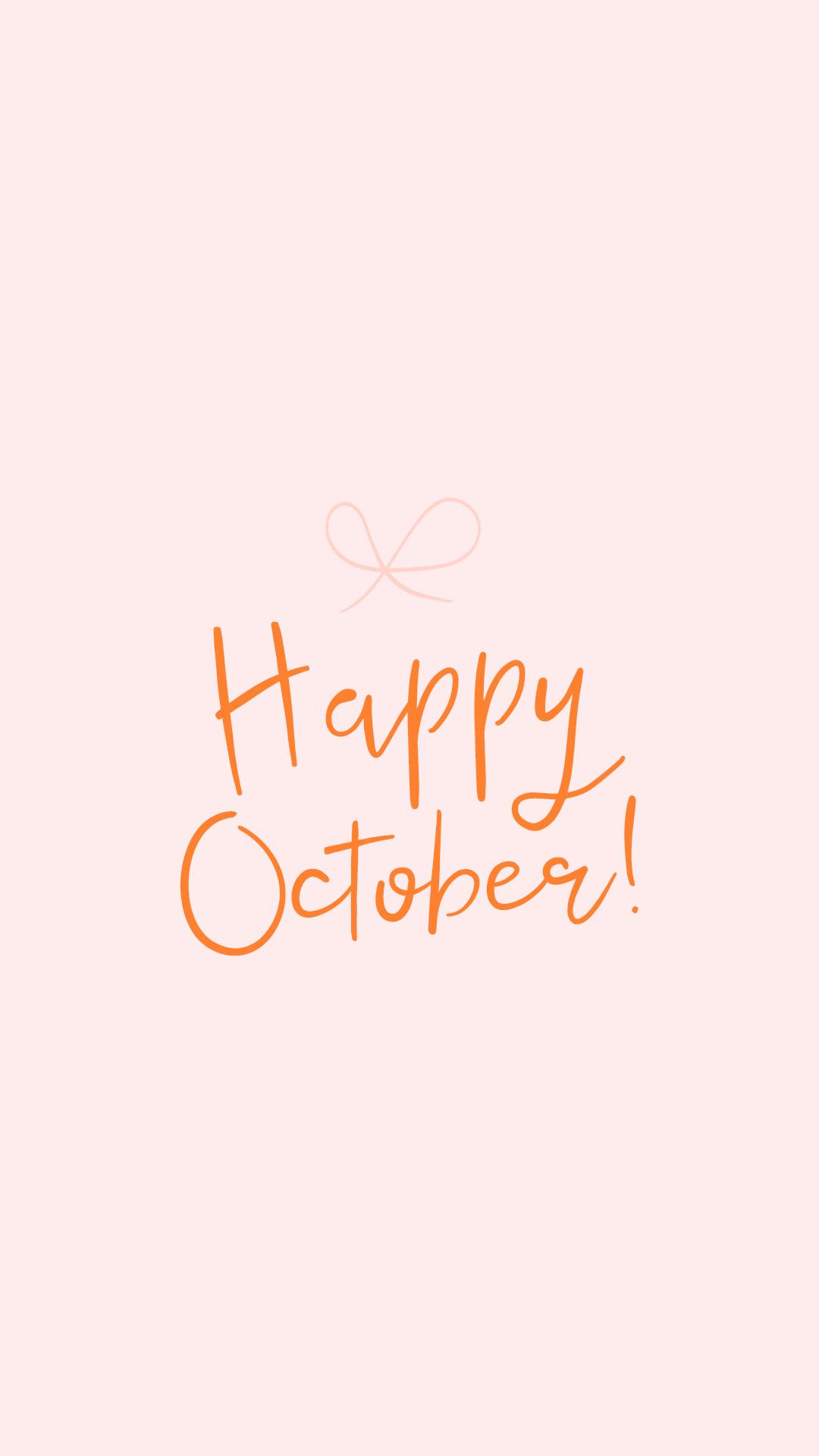 Pretty October Lockscreen and Wallpaper • Pretty Darn Cute Design #octoberwallpaperiphone