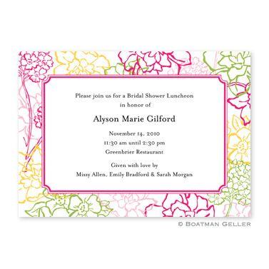 Chelsea Floral Pink Flat Notecard // The Monogram Merchant #boatmangeller #monogram #personalized #stationary #chic #prep