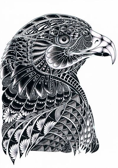Eagle Zentangle By