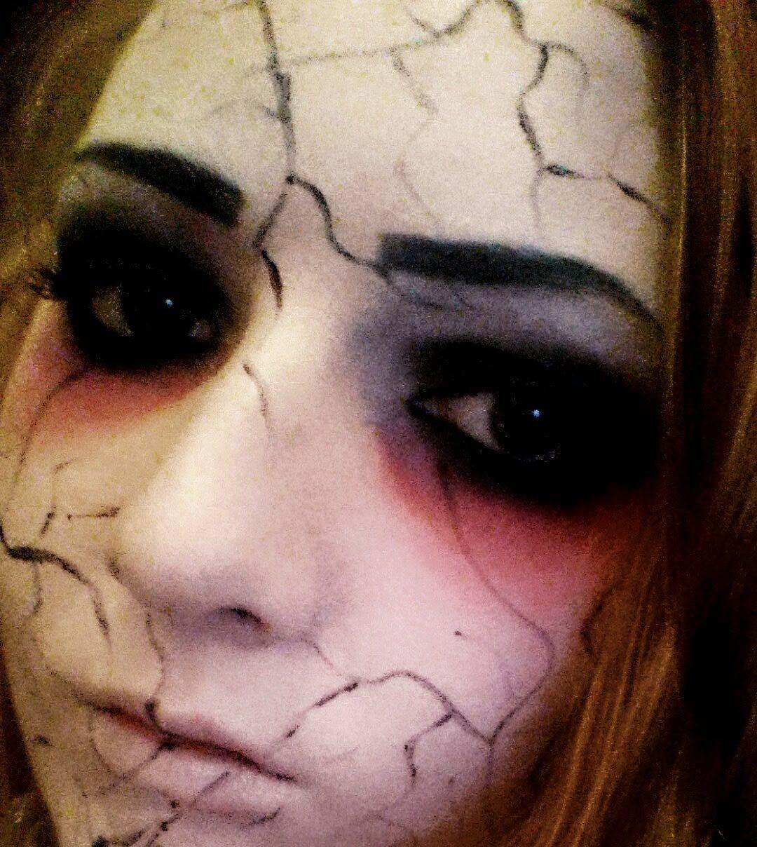 Creepy cracked doll make up tutorial makeup pinterest creepy creepy cracked doll make up tutorial makeup pinterest creepy baditri Image collections