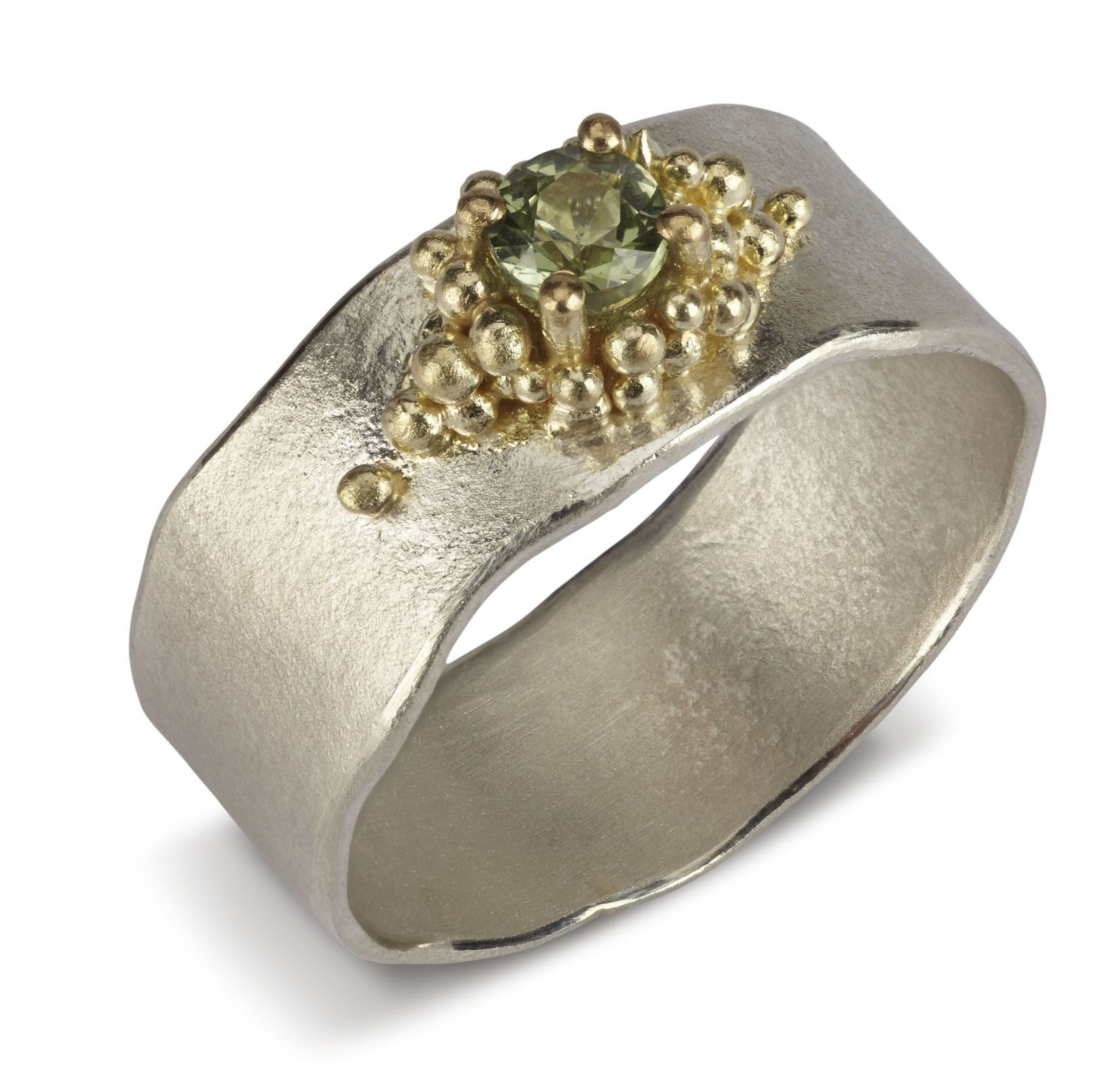gold hammered silver jewellery contemporary rings by jane ring designer natalie pin and rose