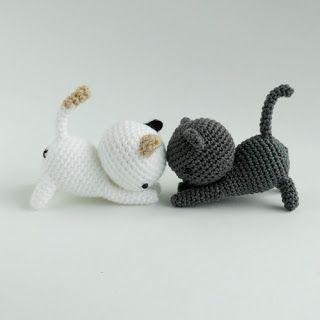 Amigurumi Kitten Neko Atsume Free Crochet Pattern Tutorial Crochet Patterns Amigurumi Crochet Cat Pattern Crochet Cat