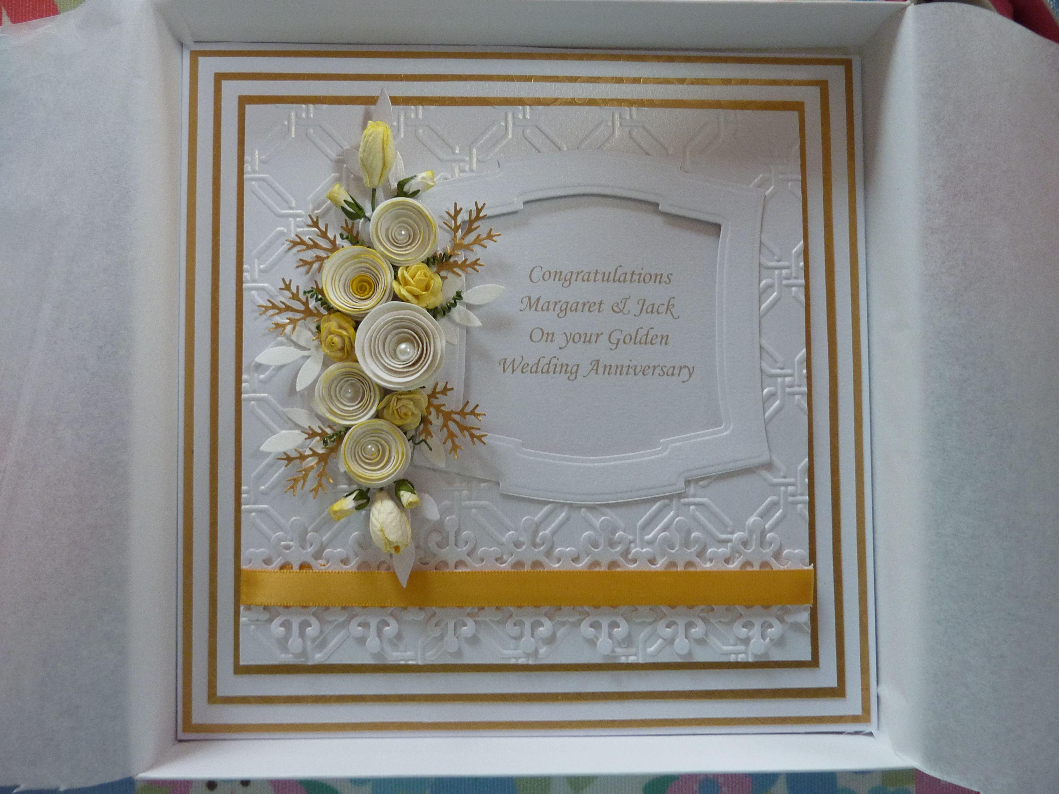 golden wedding anniversary handmade card  cards handmade