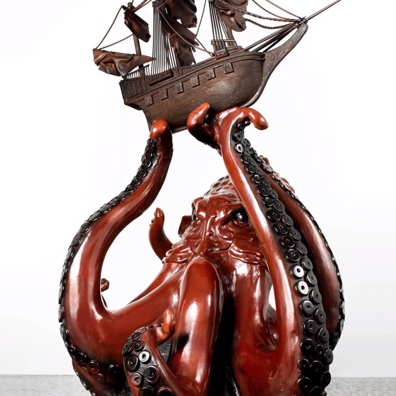 Photo of 140 lb Chocolate Kraken & Pirate Ship