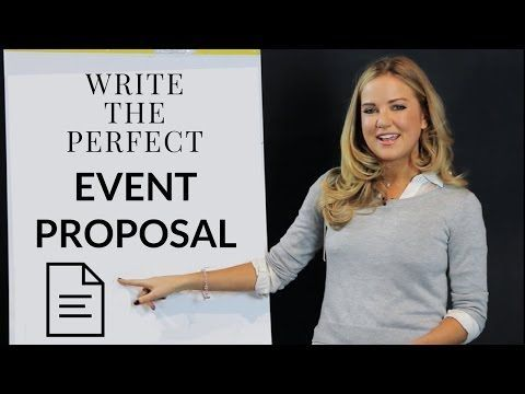 How to Write an Event Planning Proposal -   8 Event Planning Template tips