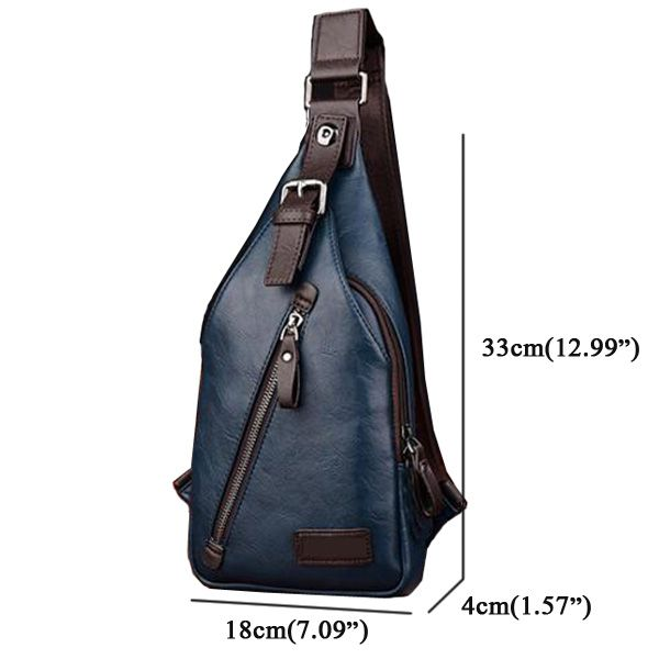Men PU Leather Retro Portable Leisure Shoulder Bag Chest Bag Crossbody Bag  is worth buying - NewChic Mobile. 976ede2a3bf45