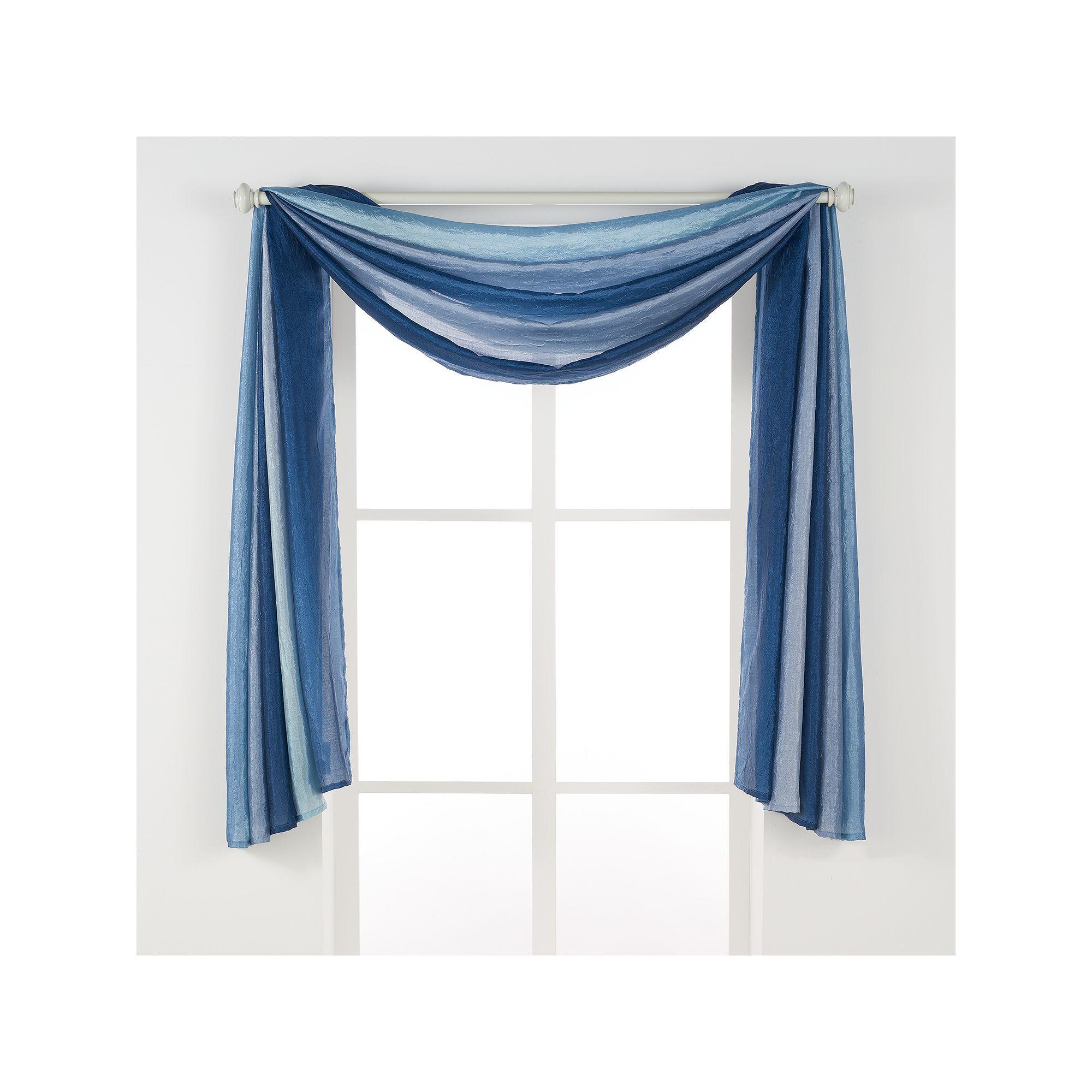 Ombre Window Scarf 144 X 50 Blue