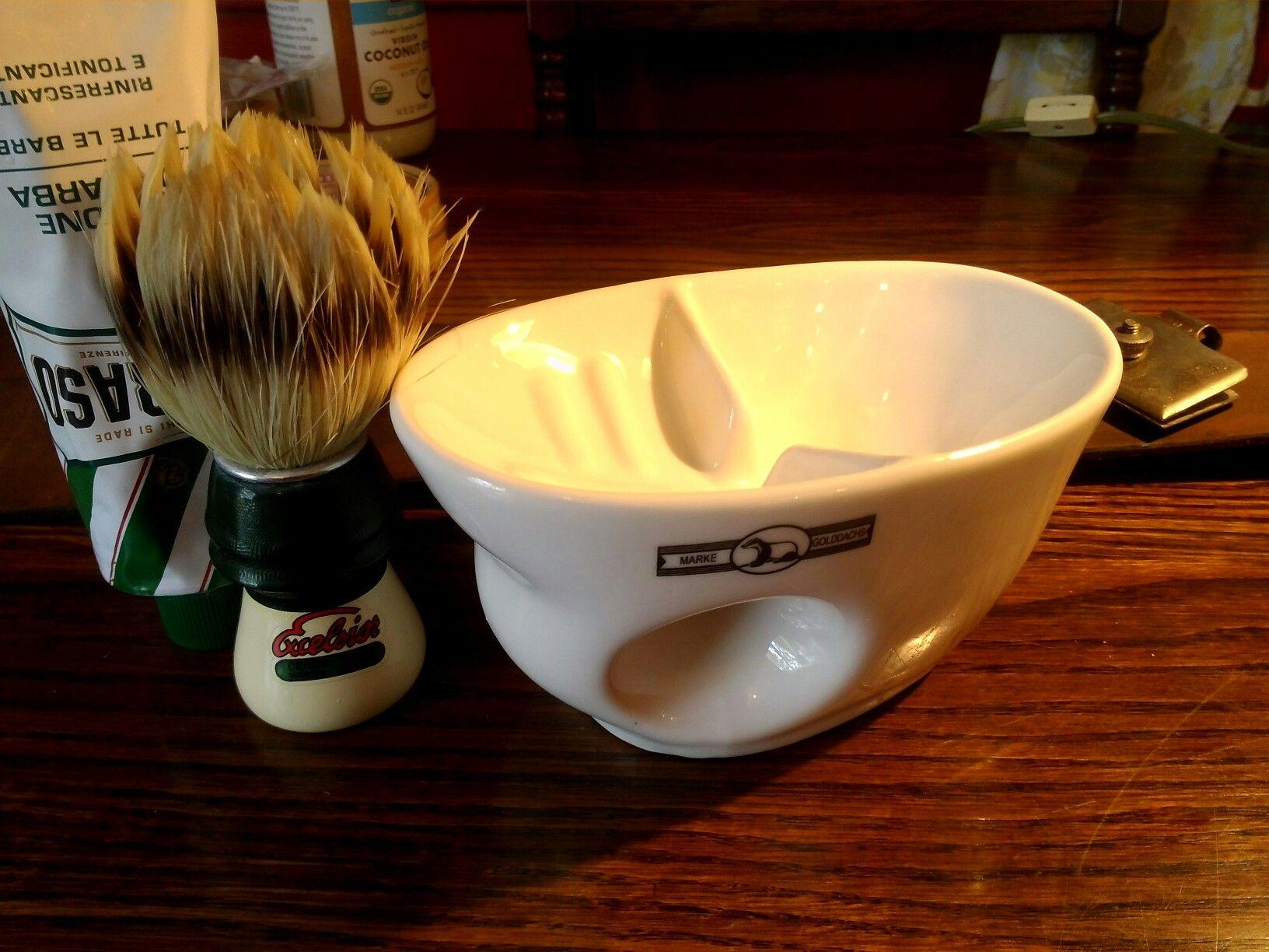 Golddachs ceramic scuttle wet shaving shaving mugs