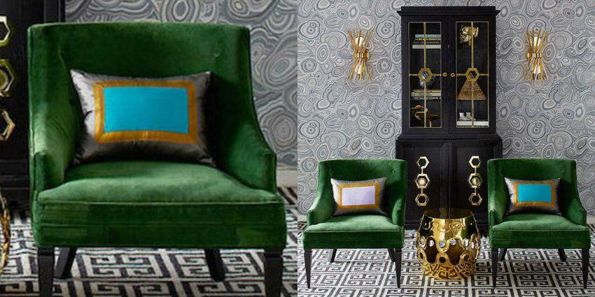 Unglaubliche Samt Sessel, Die Bei Maison Et Objet Anwesend Waren ... Einrichtungsideen Wohnzimmer Grn