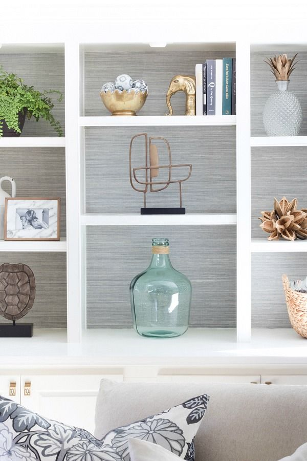 Love All Of The Ideas In This Post Like Lining Back Bookshelves With Grasscloth Wallpaper